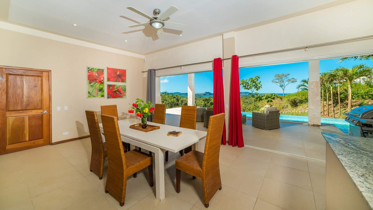 3321-The bright living room leading to the terrace with ocean views