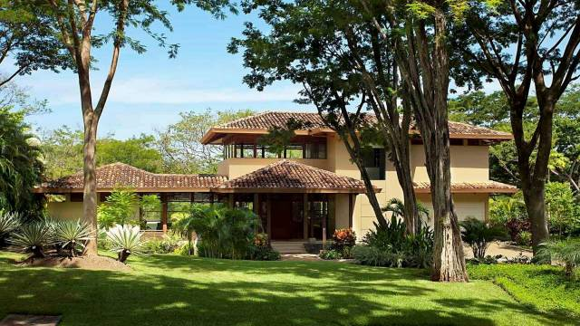 On the Gold Coast of Costa Rica, architect designed house for sale only a stone's throw from the marvelous Conchal beach...