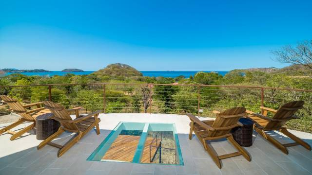 On the sunniest coast of Costa Rica, roomy home for sale with splendid ocean views...