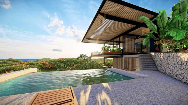 Luxury contemporary-style home for sale in the heights of Tamarindo...